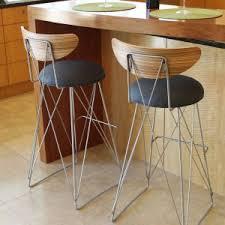 Modern Wood Bar Stool Furniture Mid Century Bar Stools For Kitchen High Chair Design