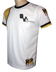 Renault Clio T Shirt With Logo And All Over Printed Picture T