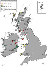 Map Of Britain Modelling The Thermal History Of Onshore Ireland Britain And Its