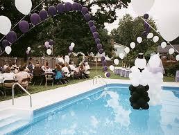 lovable pool wedding ideas pool wedding party decorating theme