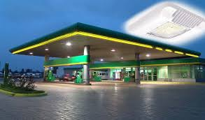 led gas station canopy lights manufacturers led canopy lights superior lighting for your gas station