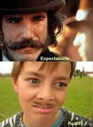 Funny Mustache Memes - growing a mustache expectation vs reality