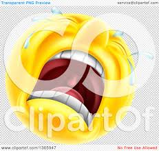 happy thanksgiving smiley face clipart of a 3d yellow male smiley emoji emoticon face crying
