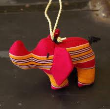 ugandan hand sewn stuffed animal ornament set kikoyi fabric