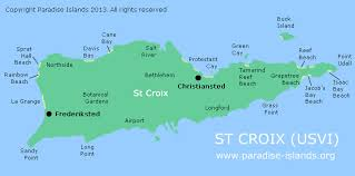 road map of st usvi st croix map caribbean major tourist attractions maps