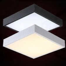 luminaire bureau plafond moderne bref carré mentale led plafond le home deco plat foyer