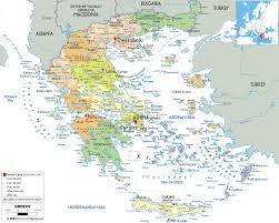 Costa Rica Airports Map Large Detailed Political And Administrative Map Of Greece With All