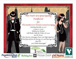 vermont new years new year s great gatsby fundraiser rutland region chamber of