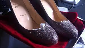 christian louboutin fifi 70 glitter mini ma première paire