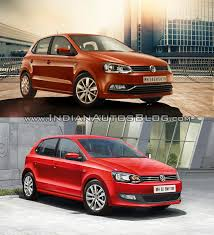 volkswagen old red old vs new vw polo facelift vs vw polo pre facelift