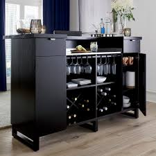 Crosley Furniture Bar Cabinet Steamer Standing Home Bar Cabinet With Stainless Steel Top