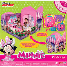 disney junior minnie mouse cottage play tent toys