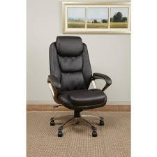 Executive Brown Leather Office Chairs Work Smart Black Eco Leather Executive Office Chair Ech89181 Ec1