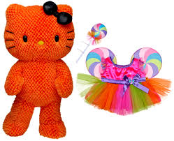halloween collectible figurines new build a bear orange hello kitty halloween lollipop candy