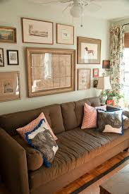 how decorate a living room with brown sofa house revivals 17 pretty ways to decorate with a brown sofa