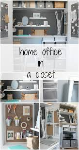 home office in a closet tiny spaces storage and craft