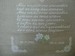 60 ans de mariage noces de ma broderie pour les 60 ans de mariage de mes parents le a tich