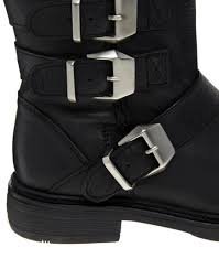 buckle motorcycle boots swedish hasbeens kg by kurt geiger shout leather buckle motorcycle