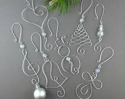 five beaded ornament hooks wire by wireexpressions