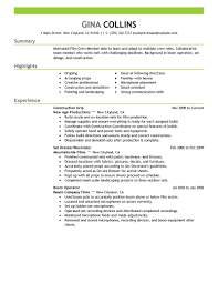 Resume Job Description For Construction Laborer by Best Film Crew Resume Example Livecareer