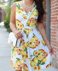 banana republic lemon print fit and flare dress stylish petite