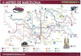 Barcelona Metro Map Parking Car Barcelona Barcelona Subway
