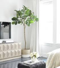 living room trees the best faux fiddle leaf fig tree zdesign at home