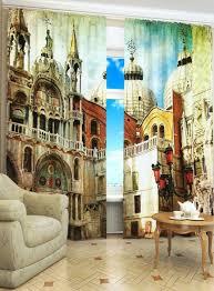 photo printed curtains as decorative element furnish burnish