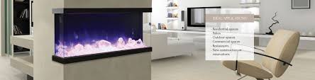 50 tru view xl u2013 3 sided electric fireplace u2013 fireplaces unlimited