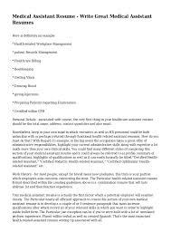 Pediatric Medical Assistant Resume Medical Assisting Resume Template