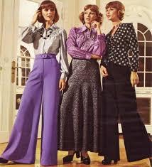 popular from the 70s for women bell bottoms maxi skirt