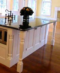 Kitchen Island Legs Unfinished The Lines Of The Kitchen Were Kept Sleek And Clean To Fit The
