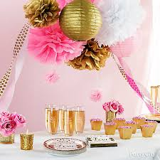 pink and gold bridal shower decorations idea city