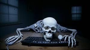 Skeleton Computer Meme - skeleton on computer blank template imgflip