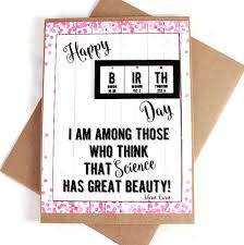 science birthday card chemistry periodic table of