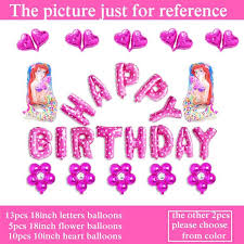 inflated balloons delivered ariel balloons happy birthday princess mermaid balloons for girl