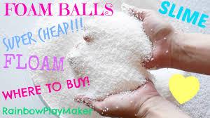 diy where to buy foam balls cheap make your own floam