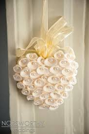 pretty decoration for a wedding or paint shells red for