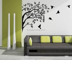 Birds Home Decor Fanciful Wall Art Stickers Flowers Home Decor Interior Exterior