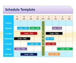 schedule template for powerpoint is a free powerpoint time sheet