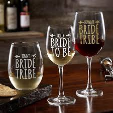 Wine Glass Gifts Modern Bridesmaid Gift Ideas