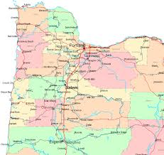 map of oregon northwest