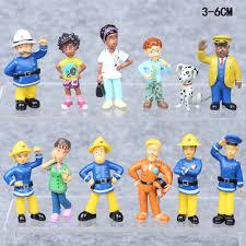 fireman sam elvis penny 12 pcs pvc action figure cute cartoon toys