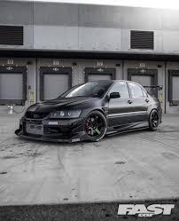 evo mitsubishi black tuned mitsubishi evo 8 fast car
