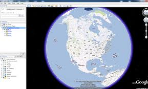 earth map turning on map view in earth geographic information