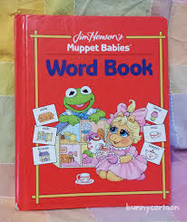 vintage 90s muppet babies word book early vocabulary education