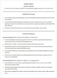 Executive Assistant Resume Template Resume Free Templates Microsoft Word Resume Template And