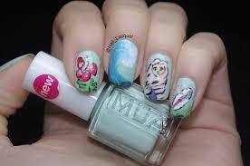 beach themed nail art nail lacquer uk