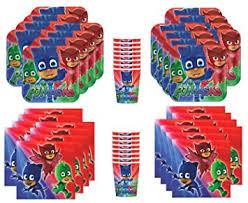 amazon pj masks birthday party supplies bundle pack 16