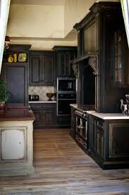 Black Rustic Kitchen Cabinets Black Cabinets With Faux Distressing Used 3 Different Colors Of